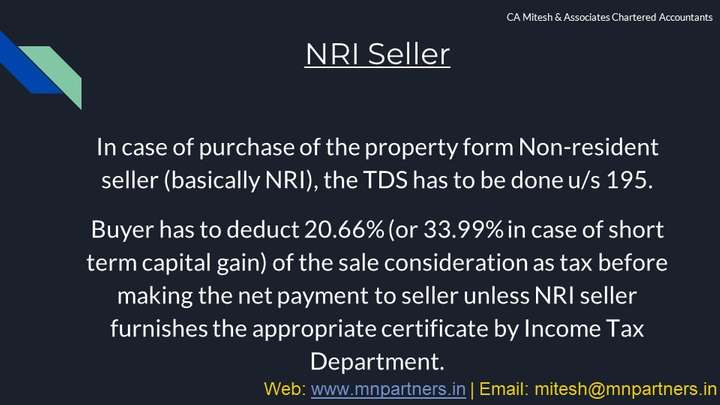 Best Tax Advisor view for TDS on Sale of Property